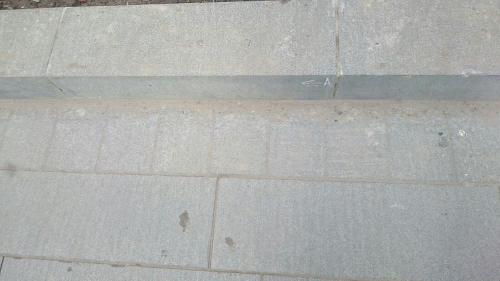 Поставка гранитных плит мощения на ул. Репина