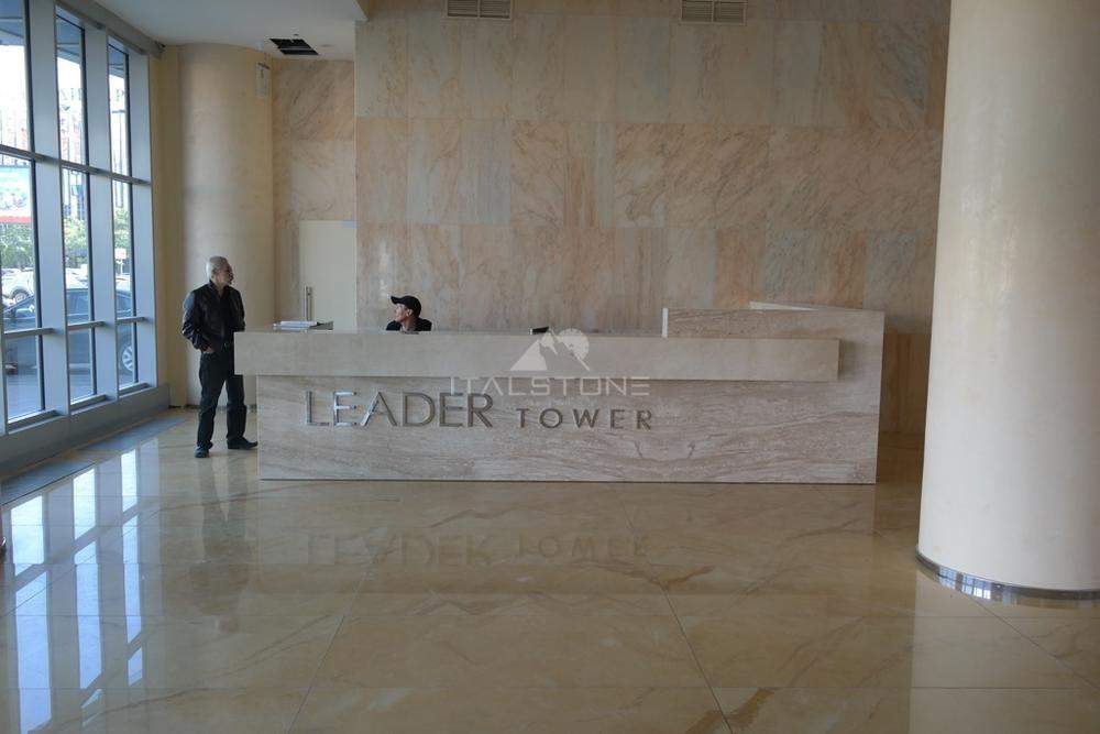Ресепшн из мрамора Breccia Sardo, Leader Tower