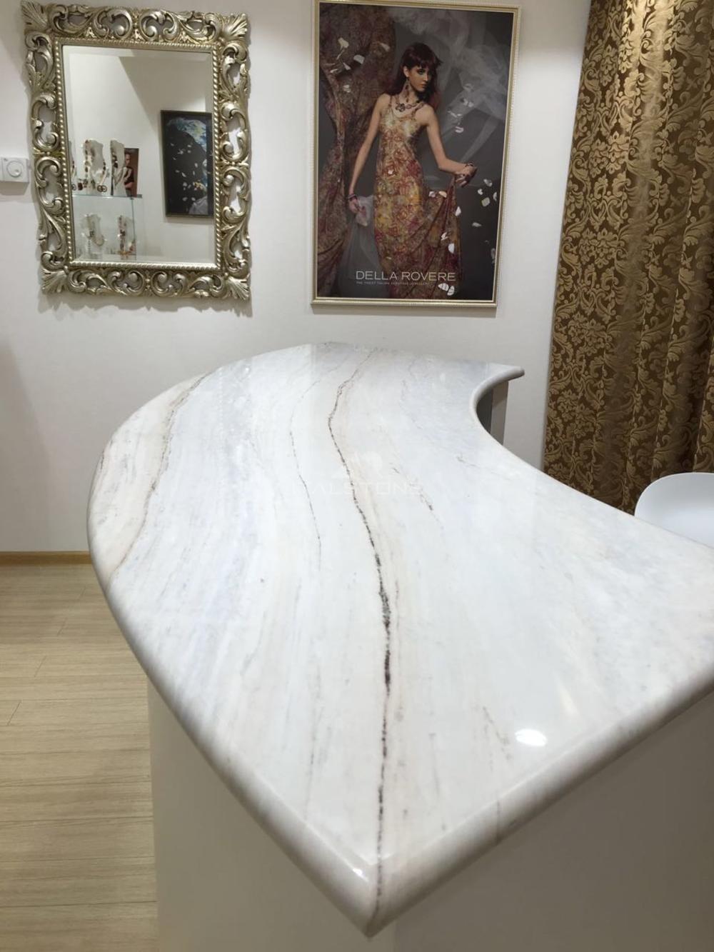 Столешница в магазин из мрамора Palissandro classico